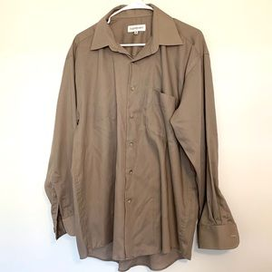 Vintage Yves Saint Laurent Men's Tan Button Down